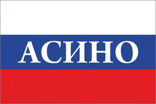 Флаг России с названием города Асино