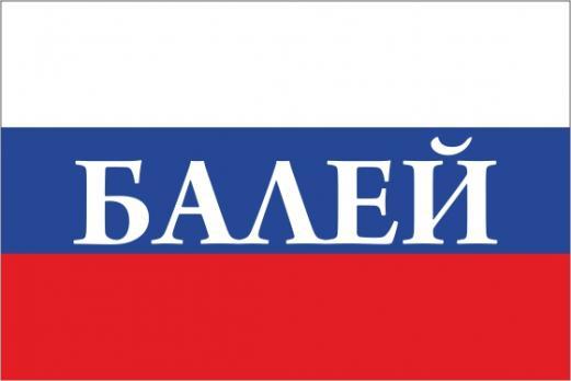 Флаг России с названием города Балей