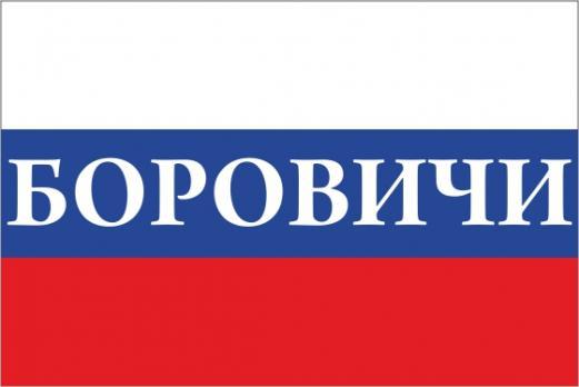 Флаг России с названием города Боровичи