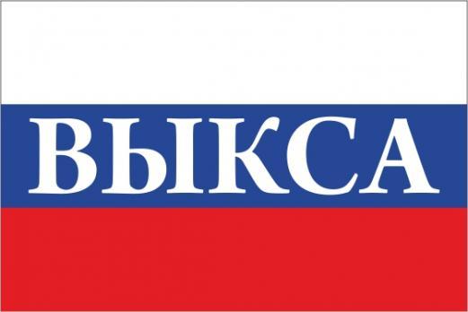 Флаг России с названием города Выкса