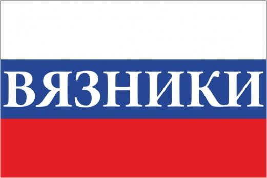 Флаг России с названием города Вязники