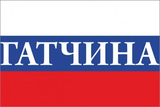 Флаг России с названием города Гатчина
