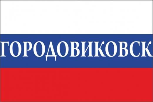 Флаг России с названием города Городовиковск