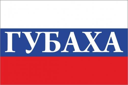 Флаг России с названием города Губаха