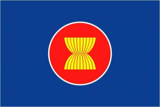 Флаг организации Ассоциация стран Юго-Восточной Азии(АСЕАН)