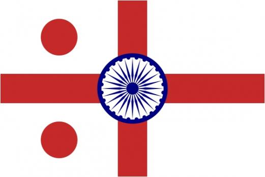 Флаг организации Контр-адмирал флота Индии
