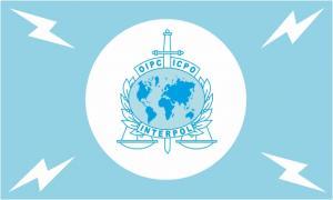 Флаг организации Международная организация уголовной полиции(интерпол)