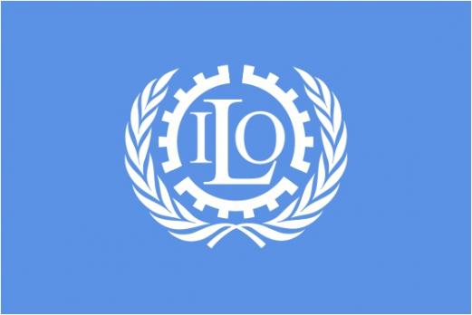 Флаг организации Международная организация труда
