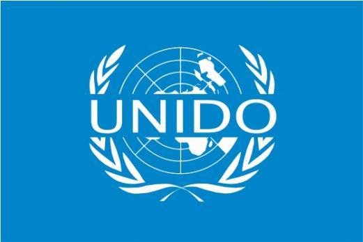 Флаг Организации Объединённых Наций по промышленному развитию(Юнидо)
