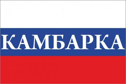 Флаг России с названием города Камбарка