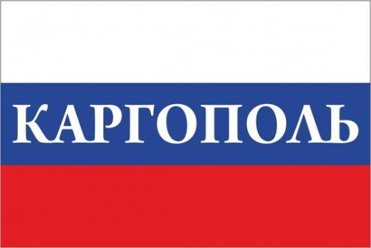 Флаг России с названием города Каргополь