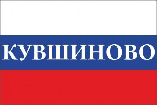Флаг России с названием города Кувшиново
