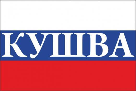Флаг России с названием города Кушва