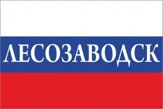 Флаг России с названием города Лесозаводск