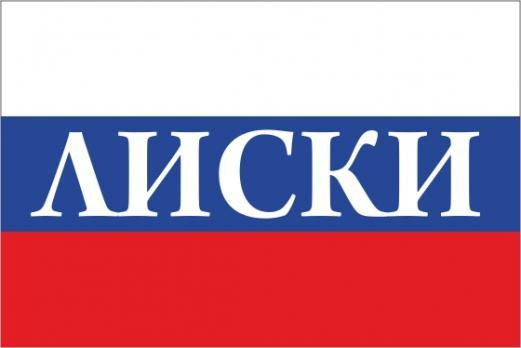 Флаг России с названием города Лиски
