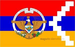 Флаг Нагорного Карабаха с гербом
