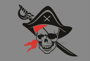 Флаг Пиратский Треуголка