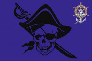 Флаг Пиратский Треуголка и Якорь