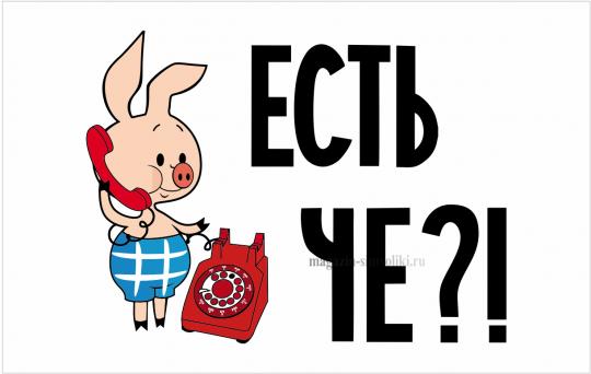"""Флаг с Пятачком """"ЕСТЬ ЧЕ?!"""" (флаг со свиньей)"""