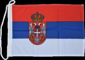 Флаг Сербии на яхту