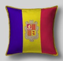 Подушка с флагом Андорры
