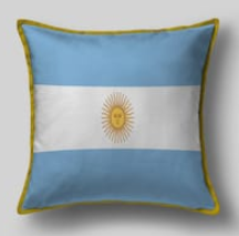Подушка с флагом Аргентины