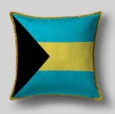 Подушка с флагом Багамских островов
