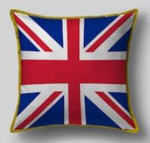 Подушка с флагом Великобритании