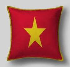 Подушка с флагом Вьетнама