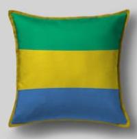 Подушка с флагом Габона