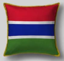 Подушка с флагом Гамбии