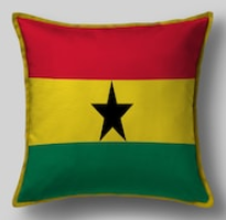 Подушка с флагом Ганы