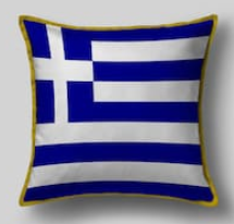 Подушка с флагом Греции