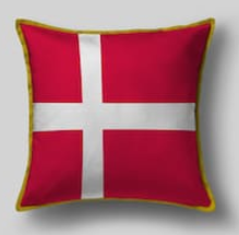 Подушка с флагом Дании