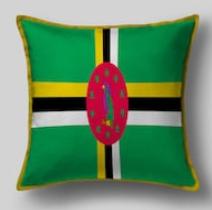 Подушка с флагом Доминики
