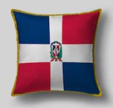 Подушка с флагом Доминиканы