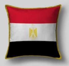 Подушка с флагом Египта