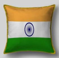 Подушка с флагом Индии