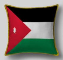 Подушка с флагом Иордании