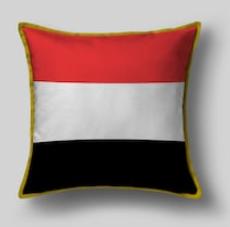 Подушка с флагом Йемена