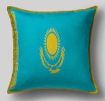 Подушка с флагом Казахстана