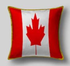 Подушка с флагом Канады