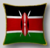 Подушка с флагом Кении