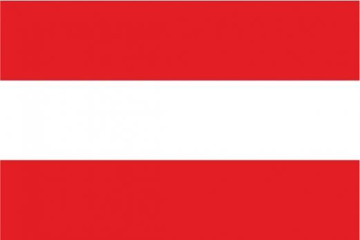 Флаг Австрии двусторонний