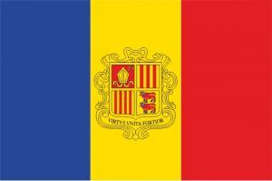 Флаг Андорры двусторонний