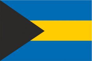 Флаг Багамских Островов двусторонний