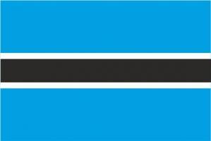 Флаг Ботсваны двусторонний