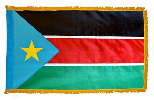 Флаг Южного Судана с бахромой