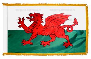 Флаг Уэльса с бахромой