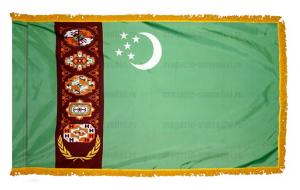 Флаг Туркмении с бахромой